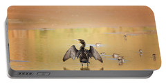 Portable Battery Charger featuring the photograph Neotropic Cormorant by Tam Ryan