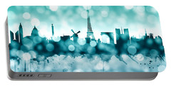 Paris France Skyline Portable Battery Charger
