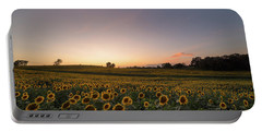 Sunflower Sunset Portable Battery Charger