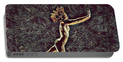 1302s-zak Naked Dancers Leap Nudes In The Style Of Antonio Bravo Portable Battery Charger