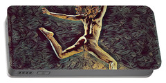 1307s-dancer Leap Fit Black Woman Bare And Free Portable Battery Charger