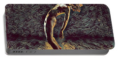 Portable Battery Charger featuring the digital art 1322s-zac Dancing Naked In The Light  by Chris Maher
