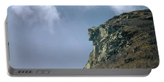 Portable Battery Charger featuring the photograph 135701 Old Man Of The Mountain Nh by Ed Cooper Photography