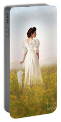 Edwardian Woman  Portable Battery Charger by Lee Avison