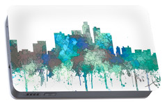 Portable Battery Charger featuring the digital art Los Angeles California Skyline by Marlene Watson