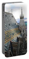 St Stephens Cathedral Vienna Portable Battery Charger by Angela Rath