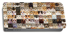 140 Random Cats Portable Battery Charger