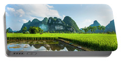 The Beautiful Karst Rural Scenery Portable Battery Charger