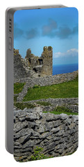 Portable Battery Charger featuring the photograph 14th Century O'brien's Castle Aran Islands by James Truett
