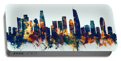 Los Angeles California Skyline Portable Battery Charger by Michael Tompsett
