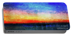 15a Abstract Seascape Sunrise Painting Digital Portable Battery Charger