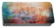 15b Abstract Sunrise Digital Landscape Painting Portable Battery Charger