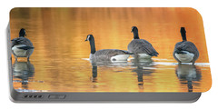 Portable Battery Charger featuring the photograph Canada Geese by Tam Ryan