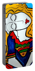 Shy Girl Picasso By Nora Portable Battery Charger by Nora Shepley