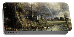 Salisbury Cathedral From The Meadows Portable Battery Charger