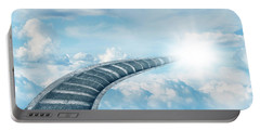 Portable Battery Charger featuring the digital art Stairway To Heaven by Les Cunliffe