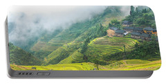 Terrace Fields Scenery In Autumn Portable Battery Charger