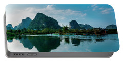 The Karst Mountains And River Scenery Portable Battery Charger