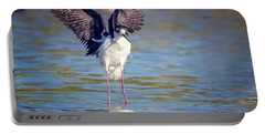 Black-necked Stilt  Portable Battery Charger by Tam Ryan