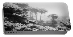 17 Mile Drive Cyprus Tress  Portable Battery Charger by Craig J Satterlee