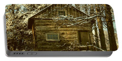 1700's Log School House In West Chester, Pennsylvania Portable Battery Charger