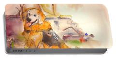 Portable Battery Charger featuring the painting Dogs  Dogs  Dogs  Album  by Debbi Saccomanno Chan