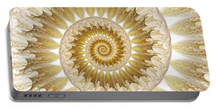 Portable Battery Charger featuring the digital art 18 Karat by Lea Wiggins
