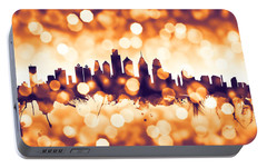 Philadelphia Pennsylvania Skyline Portable Battery Charger by Michael Tompsett