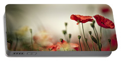 Poppy Meadow Portable Battery Charger
