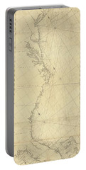 1807 North America Coastline Map Portable Battery Charger