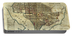 1822 Map Of Washington Dc Portable Battery Charger