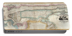 1852 New York City Map Portable Battery Charger