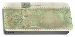 1870 Vaux And Olmstead Map Of Central Park New York City Portable Battery Charger