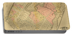 1879 Inwood Map  Portable Battery Charger by Cole Thompson