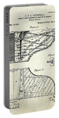 1880 Steinway Piano Forte Patent Art Sheet 1  Portable Battery Charger by Gary Bodnar