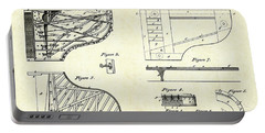 1880 Steinway Piano Forte Patent Art Sheets V2 Portable Battery Charger by Gary Bodnar