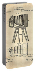 1885 Camera Us Patent Invention Drawing - Vintage Tan Portable Battery Charger