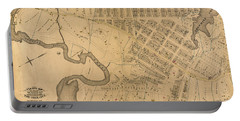Portable Battery Charger featuring the photograph 1885 Inwood Map  by Cole Thompson