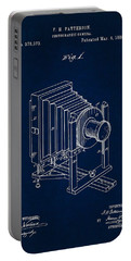 1888 Camera Us Patent Invention Drawing - Dark Blue Portable Battery Charger