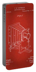 1888 Camera Us Patent Invention Drawing - Red Portable Battery Charger