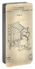 1888 Camera Us Patent Invention Drawing - Vintage Tan Portable Battery Charger