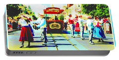 1890s Dancers Main Street Usa Walt Disney World Poster Image Portable Battery Charger