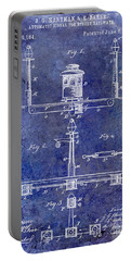 1893 Street Railway Signal Patent Blue Portable Battery Charger