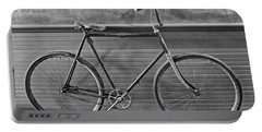 Portable Battery Charger featuring the photograph 1895 Bicycle by Joan Reese