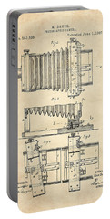 1897 Camera Us Patent Invention Drawing - Vintage Tan Portable Battery Charger