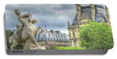 Portable Battery Charger featuring the pyrography Paris by Yury Bashkin