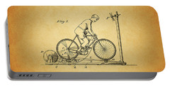 1900 Bicycle Exercise Stand Portable Battery Charger by Dan Sproul