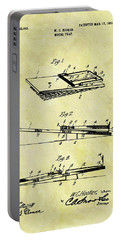 Portable Battery Charger featuring the mixed media 1903 Mouse Trap Patent by Dan Sproul