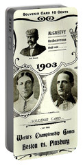 1903 World Series Poster Portable Battery Charger