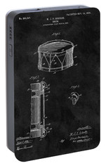 1905 Drum Patent Illustration Portable Battery Charger by Dan Sproul